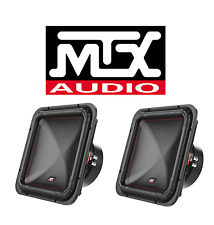 "TWO MTX S6512-44 DUAL 4 OHM 12"" SQUARE SUBWOOFER 2000 WATTS PEAK FREE SHIPPING"