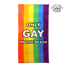 IGGI GH-91-885 'Reserved' Black And White Striped Novelty Beach Towel - New