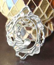 """JJ"" Jonette Jewelry Vintage Stargazer Lady Mystical Pewter Pin Dreamer Goddess"