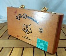 Wooden Purse Cigar Box Beaded Handle La Flor Dominicana Tassel Mirror