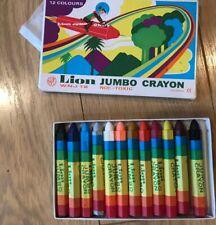New box 12  Lion Jumbo Crayons