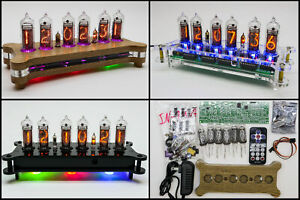 DIY KIT ALENA NIXIE IN-14 Tubes Desk Clock + Case + Power Supply + Remote