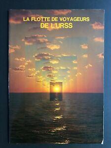 SOVIET PASSENGER LINERS - MORFLOT |  1978 Brochure with Deck Plans