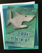 Handmade Birthday Card ~ Shark ~ made w/ Stampin Up & other prod