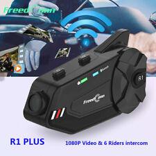 1000m 4-Way Motorcycle Intercom Camera Bluetooth Headset Helmet Interphone DVR