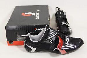 Scott Tri Carbon Mens Triathlon Bike Shoes Black, Silver & White Eu 41 or US 8
