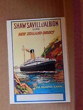 Postcard Advertising Shaw Savill liners  Old Advert Modern card