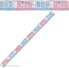 Gender Reveal Foil Banner 12ft Unisex Baby Shower Party Decorations 47398