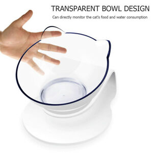 15 Degree Tilt Cat Bowls Pet Feeding Bowl Cat Water Bowl Durable Fall Resistant