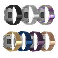 Ersatz Edelstahl Armband Uhr Band Mesh Watchband für Fitbit Ionic Metal Armband