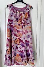 BRAND NEW M&S Silk Floral Print Summer Dress - Size 18 Marks & Spencer Flowers