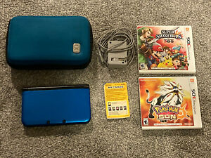 Nintendo 3DS XL Blue/Black System With Accessories And 2 Games
