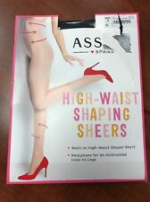 Spanx Asset High-waisted Black Shaping Sheers Pantyhose Size 3 Style 269B