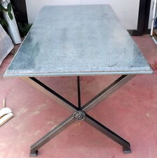 Tavolo da in ferro battuto e granito cm180x90x80h artiginato ITALIA interno est