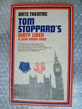 1976 Arts Theatre Programme Tom Stoppard's DIRTY LINEN & New Found Land