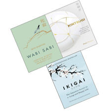 Kintsugi,Wabi Sabi Japanese Wisdom for a Perfectly,Ikigai 3 books collection set