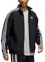 Adidas Lock Up Track Top Men's Jacket 2XL Black White Stripes Plain Weave