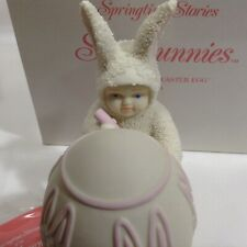 Snowbunnies I'll Color the Easter Egg 1996 Dept 56 Box Spring 2621-2