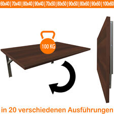 Dunkle Walnuss | Wandtisch Wandklapptisch Küchentisch Schreibtisch Esstisch