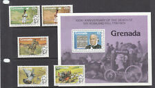 Grenada  1979 Roland Hill set + mini sheet MNH