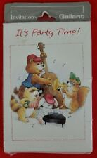 Vintage Gallant Party Invitations Raccoon Bunny Squirrel Bear Playing Instrument