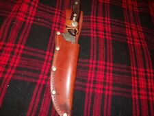 Vtg Schrade USA 150T Old Timer Deer Slayer Fixed Blade Knife & Leather Sheath