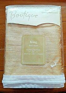 King Size Newport Layton Boutique Dupioni Silk Bed Skirt NIP