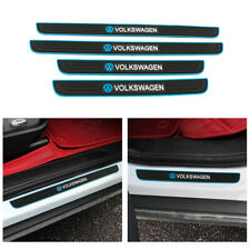 VOLKSWAGEN Blue Border Rubber Car Door Scuff Sill Cover Panel Step Protector