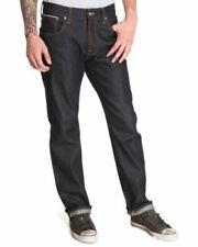 Nudie Mens Selvedge Denim Jeans   Regular Fit  Straight Alf Dry Ropy Selvage