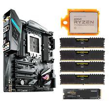 AMD Ryzen TR 1950X ASUS ROG X399-E Mainboard 4x 16GB 2666 MHz RAM DDR4 1TB SSD
