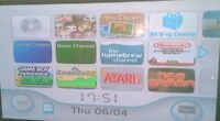 Nintendo Wii White Console Homebrew Retro Console Only.