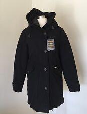 J Crew Woolrich John Rich & Bros Techno Wool Eskimo parka M Black $965 b1817