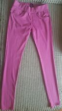 Womens/ Ladies Fit Skinny pink Coloured Stretchy Trousers/Jeans/jeggings Size12