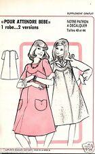 Patron de couture Pour attendre Bébé  1 robe 2 versions  taille 40 & 44