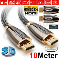 10M PREMIUM ULTRAHD HIGH SPEED HDMI Cable V2.0 4K HD 2160P 3D HDTV UHD 3DTV Lead