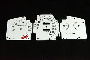 Gauge Faces Overlay kit Spoon style for  EDM Honda Civic Eg Ej 92-95