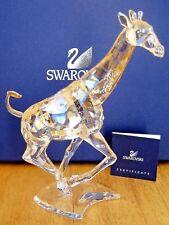 Swarovski Crystal Running Giraffe Golden Desert Glow 935896 Retired Nib D484