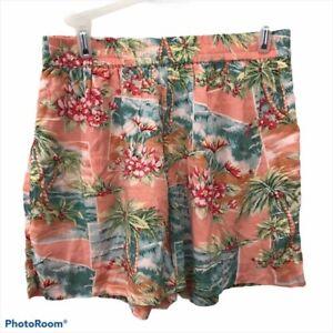 NWT American Eagle High Rise Hawaiian Flowy Shorts Womens Size Small