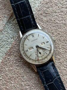 Movado Triple Calendar Rare Vintage Watch Acier Inox Swiss Made