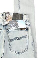 NEW Men's Nudie Jeans High Kai Size 27 Organic Black Bleach Skinny Leg DA0003