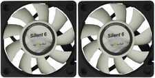 2 x Gelid Solutions Silent 6, Quiet Case Fans, 6cm / 60mm - 3200rpm + 16 CFM