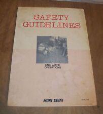 Mori Seiki Safety Guidelines Cnc Lathe Operations Sg Nl C0e