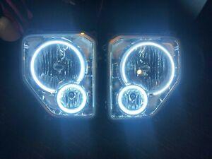 NEW 2008-2012 JEEP LIBERTY WHITE LED HALO HEADLIGHTS 7075-001