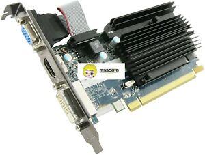 Scheda Video Sapphire Radeon HD 6450 DDR3 1 GB VGA DVI HDMI grafica computer pc