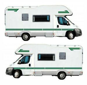 14 Metres Dark Green Stripes For Motorhome Caravan Campervan Decal Graphics S2