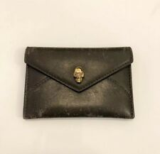{Alexander McQueen} Envelope Card Wallet Olive Green Coin Purse Card Case