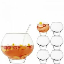 New listing Perfect Condition, Missing Glass, Lsa International Rum Punchbowl Set - Clear