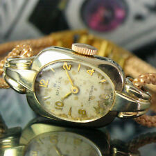 Rolex Precision Winding 9k Solid Gold Case Vintage Ladies Gift Watch NO RESERVE