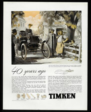 1938 Vintage Print Ad 30's TIMKEN roller bearing company carriage illustration