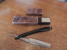 VINTAGE H.BOKER & CO. coffin/box & weck hair trimmer thinner Red Injun 100 SHARP